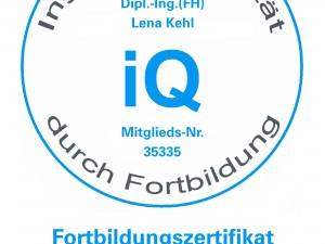 Fortbildungszertifikat der Bayerischen Ingenieurekammer-Bau 2014