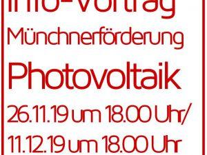 Infovorträge über Münchner Photovoltaikförderung
